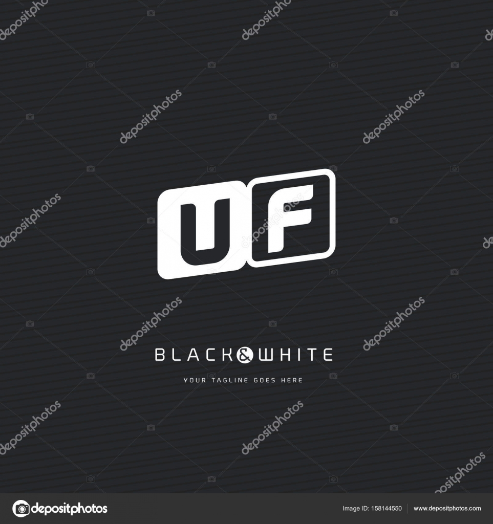 UF Letters Logo Business Card Stock Vector