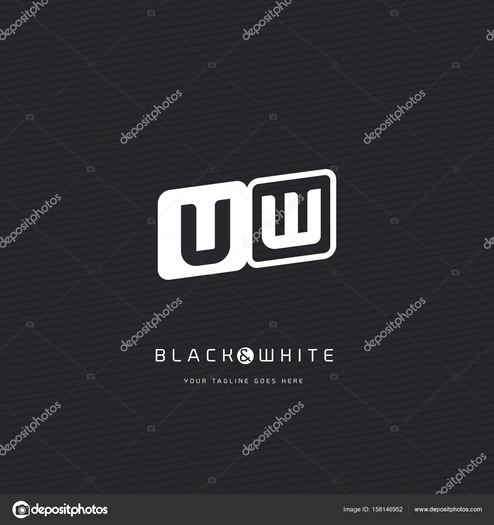 UW Letters Logo Business Card — Stock Vector © brainbistro #158146952