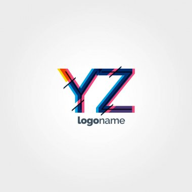 YZ connected letters logo