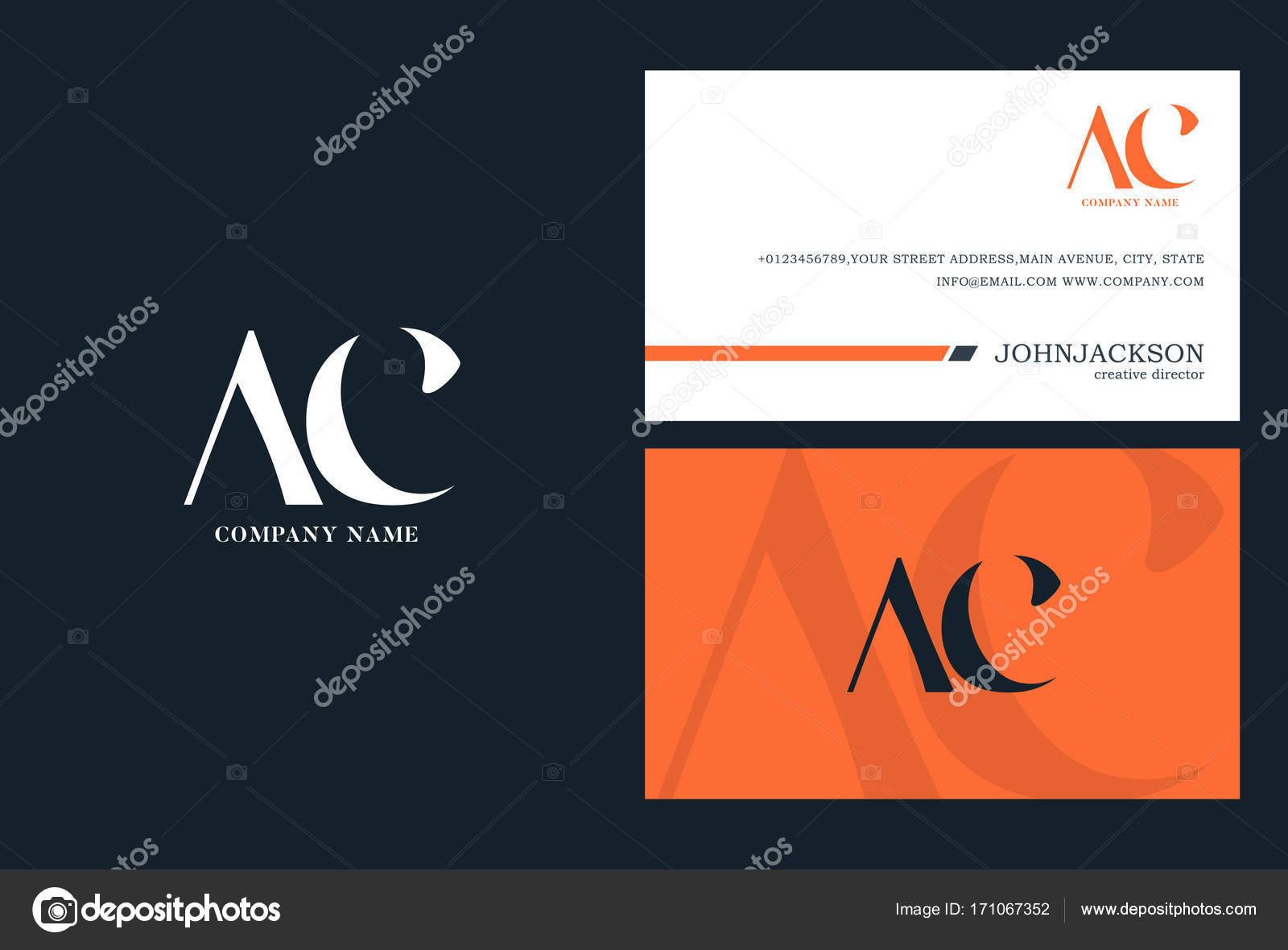 AC-Gelenk Buchstaben Logo — Stockvektor © brainbistro #171067352