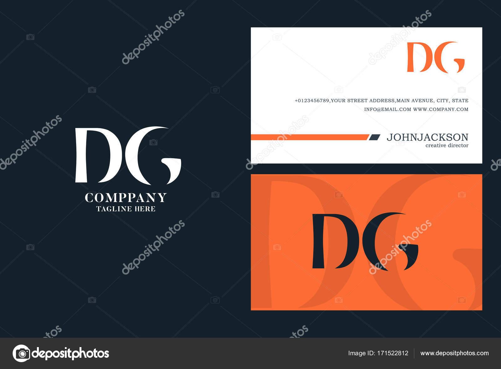Dirección General conjunta Letras Logo — Vector de stock ...