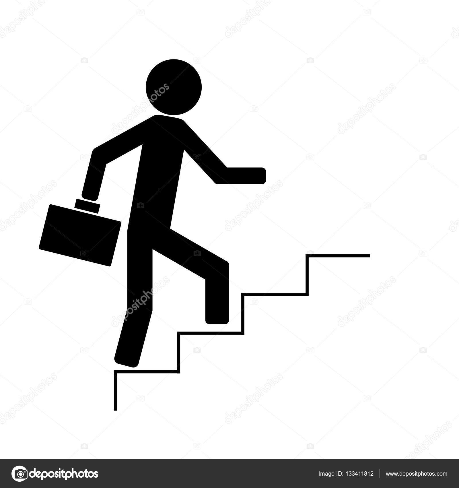Uomo che sale le scale vettoriali stock densv 133411812 for Sedia elettrica che sale le scale