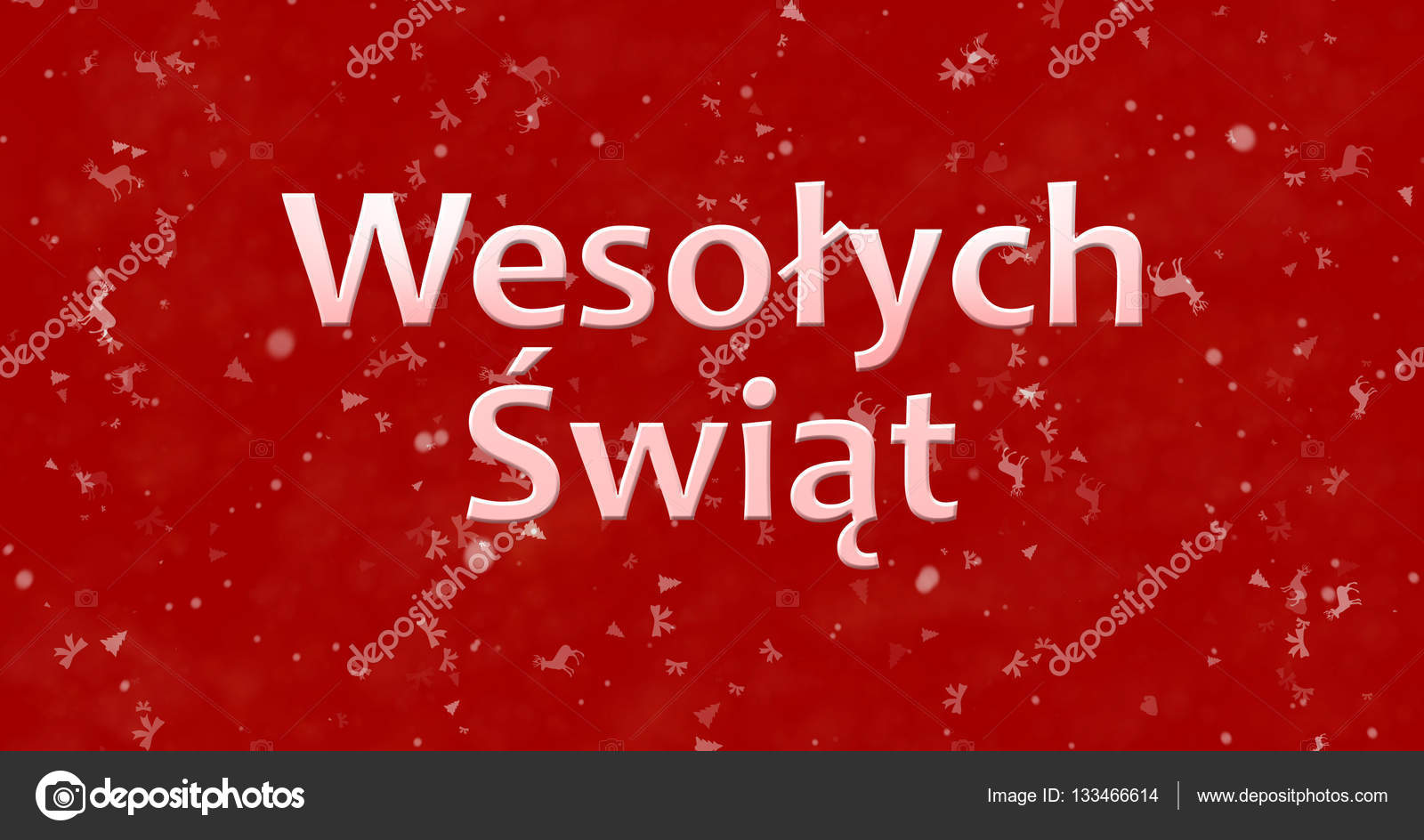 merry christmas text in polish