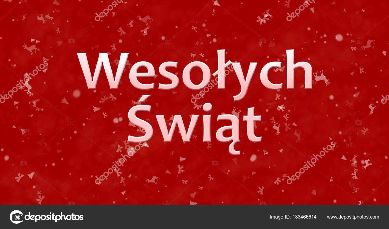 Frohe Weihnachten Text.Frohe Weihnachten Text Im Polnischen Wesolych Swiat Auf