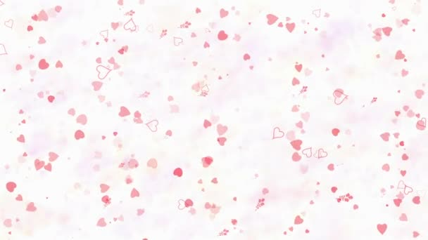 Happy Valentines Day text in German Frohlichen Valentinstag formed from dust and turns to dust horizontallyon light background
