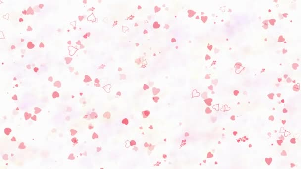 Happy Valentines Day text in Hebrew formed from dust and turns to dust horizontallyon light background