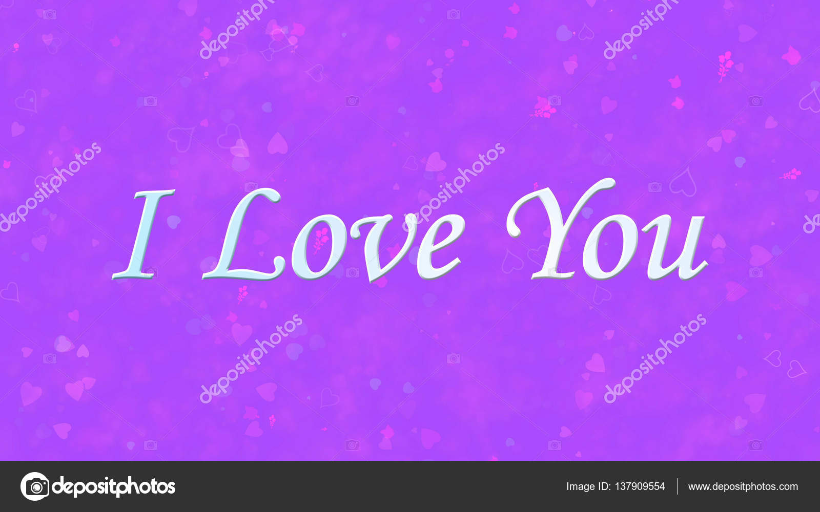 i love you text on purple background ストック写真 diplikaya