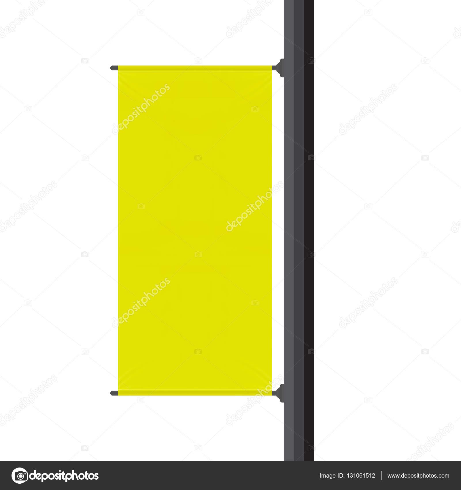 gelbe leer Werbebanner — Stockvektor © jackreznor #131061512