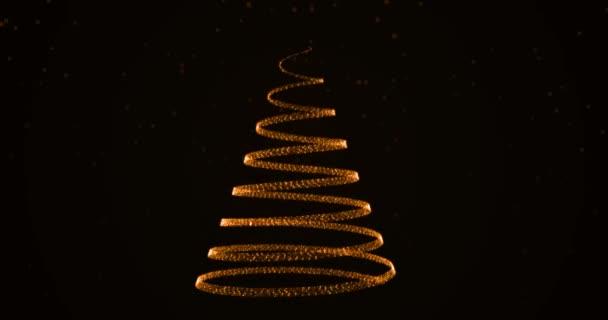 Pěstování vánoční stromeček s padající sněhové vločky