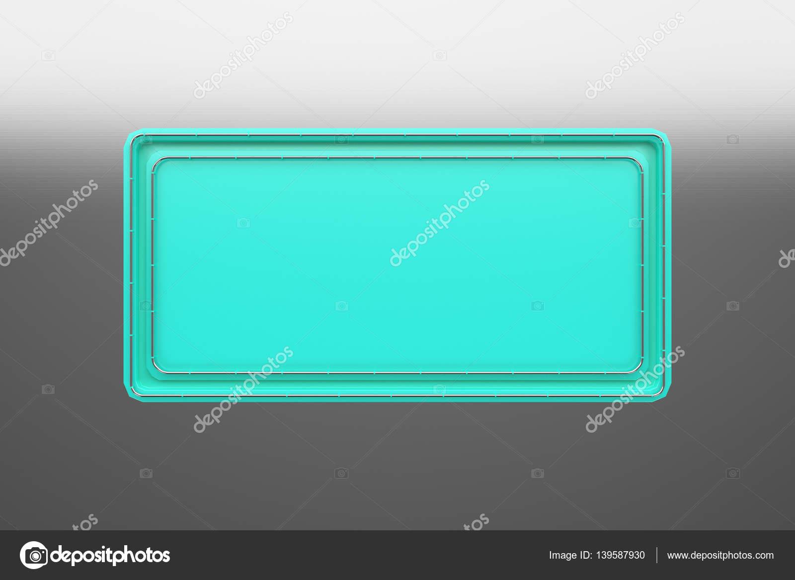 Rechteckige Farbige Teller Mit Ecken Aus Rohren Stockfoto