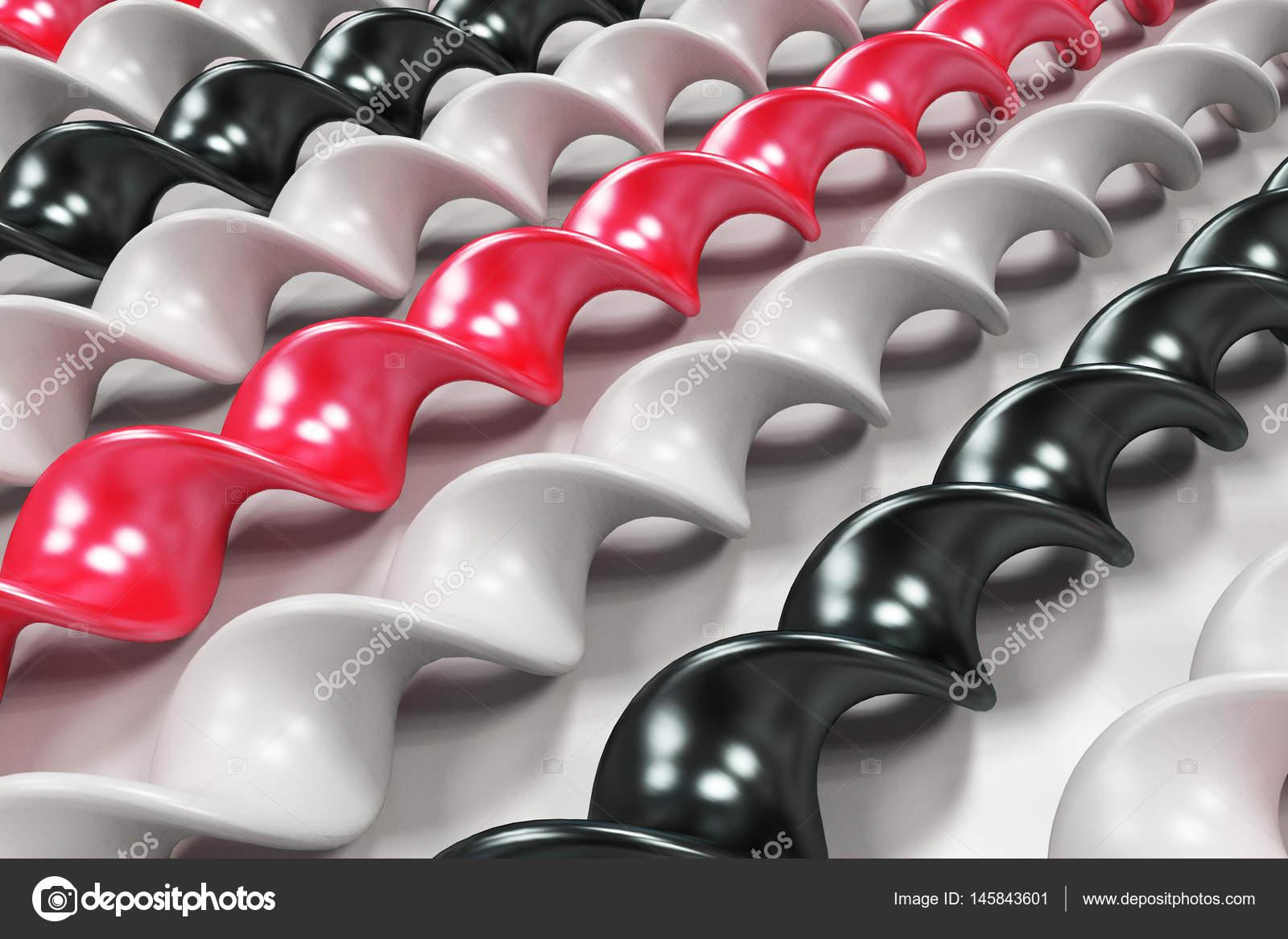 noir blanc et rouge spirale en plastique colle sur fond blanc photographie ezebolov 145843601. Black Bedroom Furniture Sets. Home Design Ideas