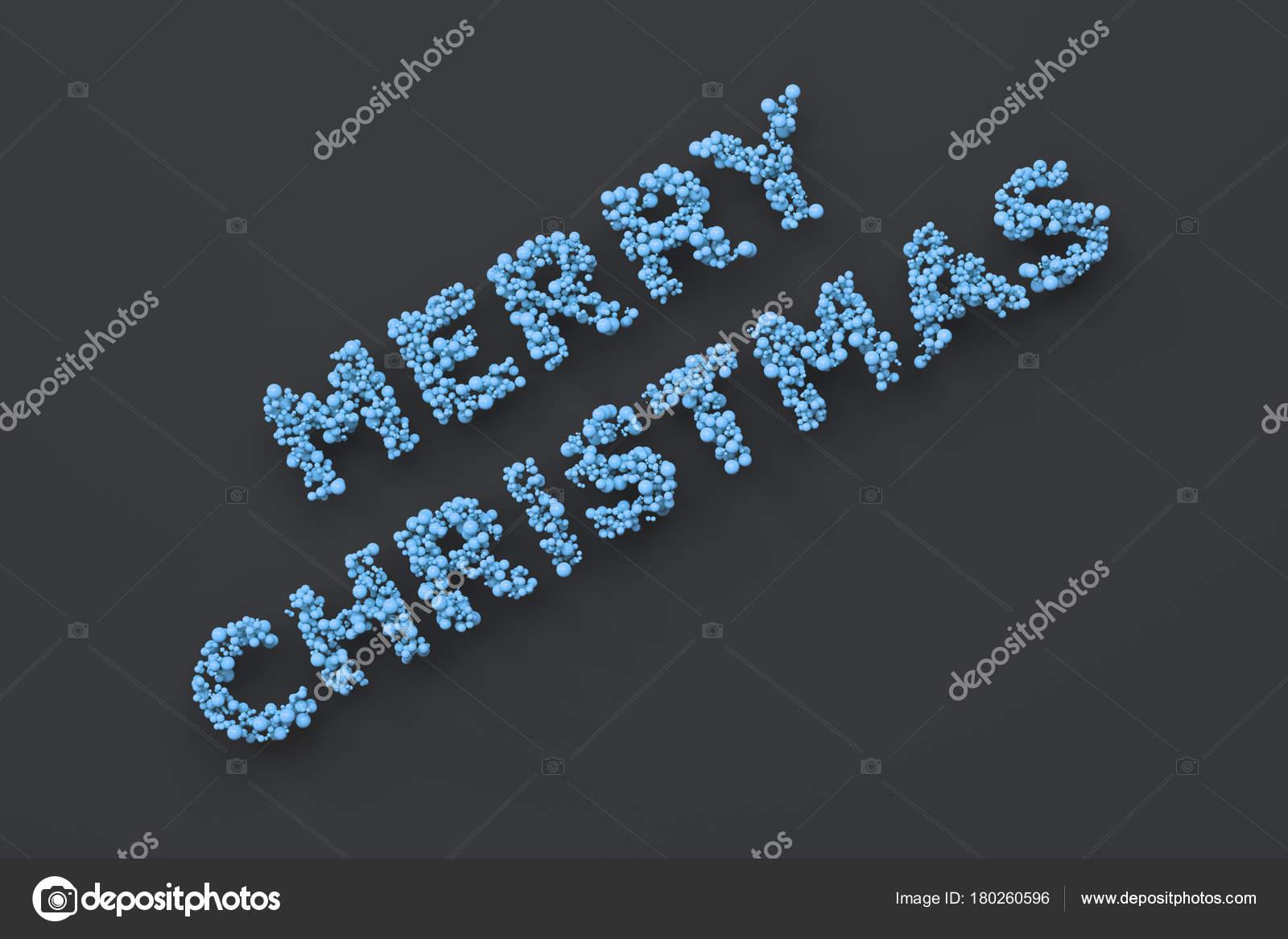 Parole Di Buon Natale.Parole Di Buon Natale Da Sfere Blu Su Sfondo Nero Foto