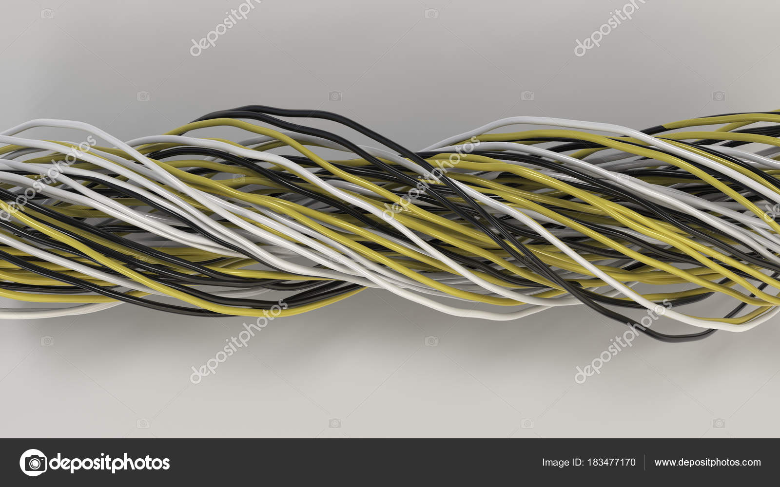 Yellow Black Electrical Wire Twist - WIRE Center •