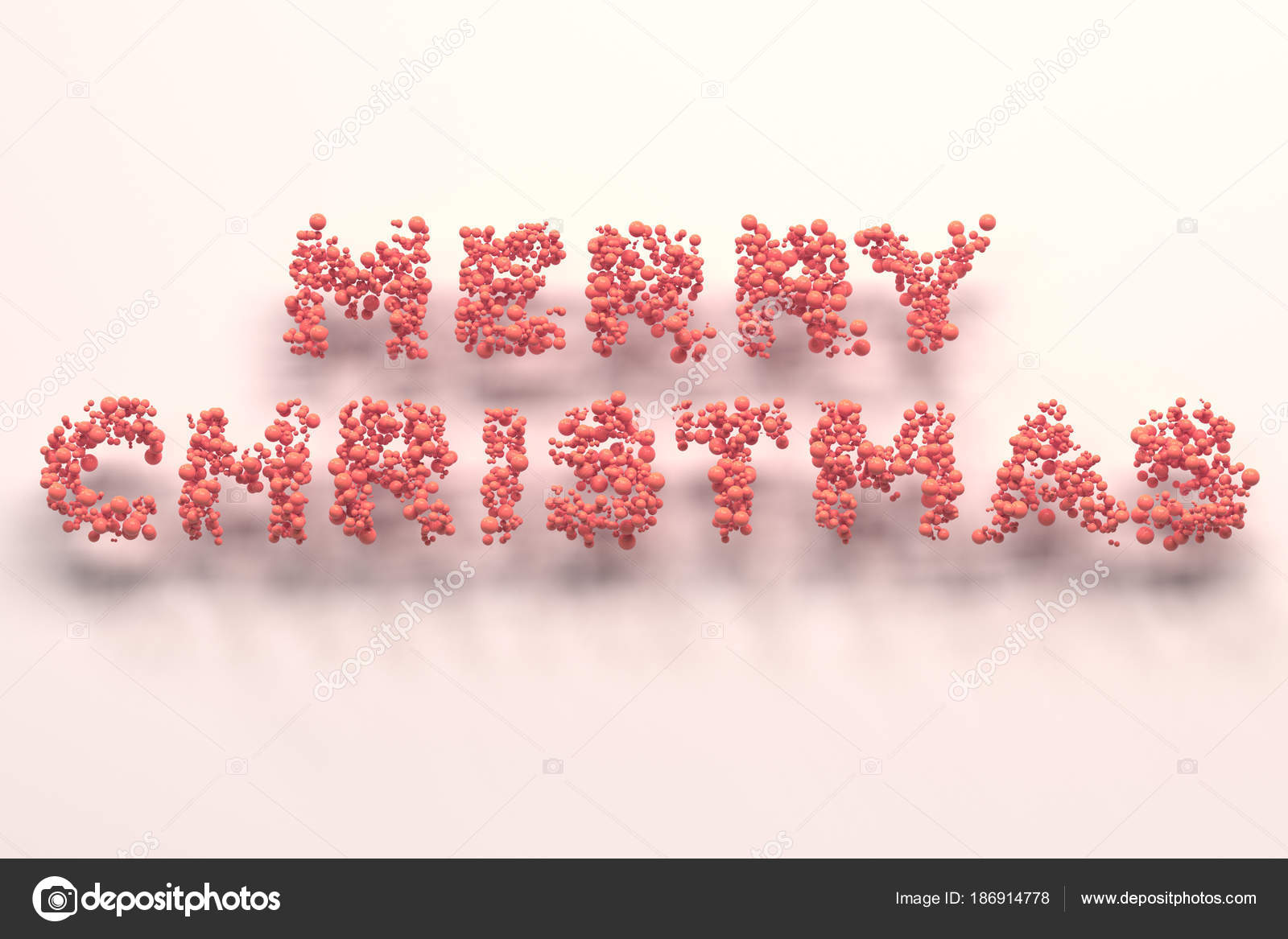 Merry Christmas words from red balls on white background — Stock ...