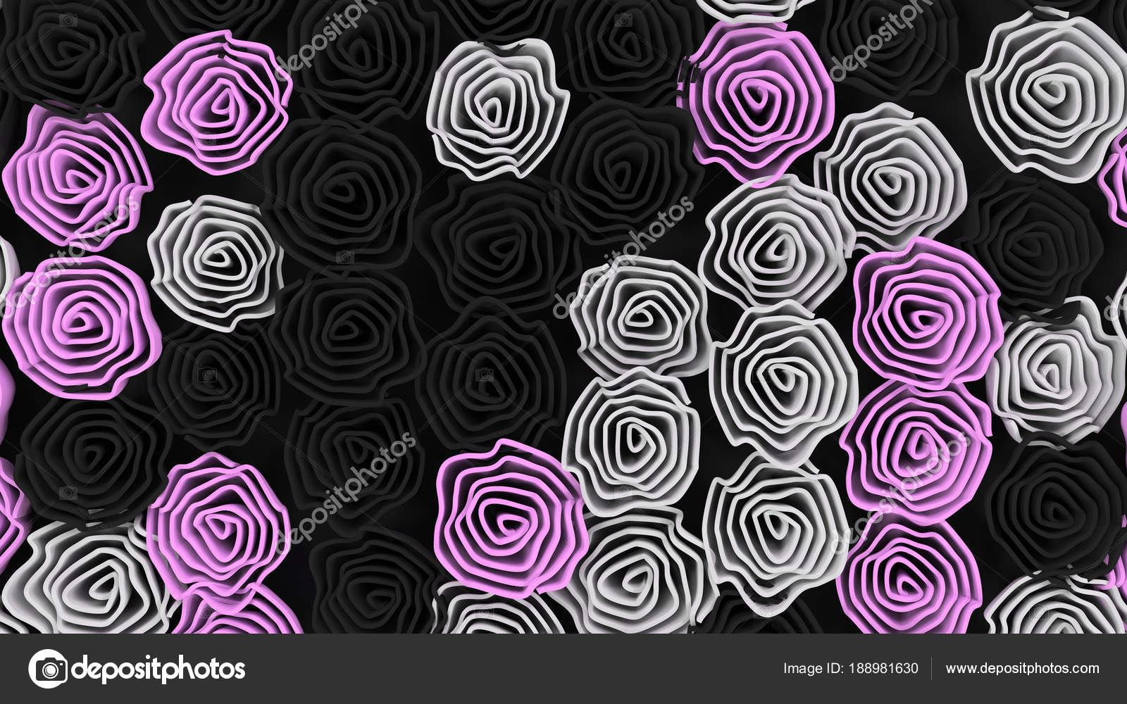 Imágenes Rosas Negras Y Moradas Patrón De Flores Negras Blancas
