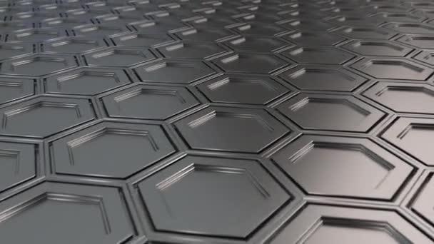 Abstrakte technologischen Hintergrund gemacht aus Metall Sechsecken. Wand aus Sechsecken. 3D Render-illustration