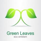 Zelené listy. Eco ikona.