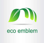 Zelený list. Eco ikona.