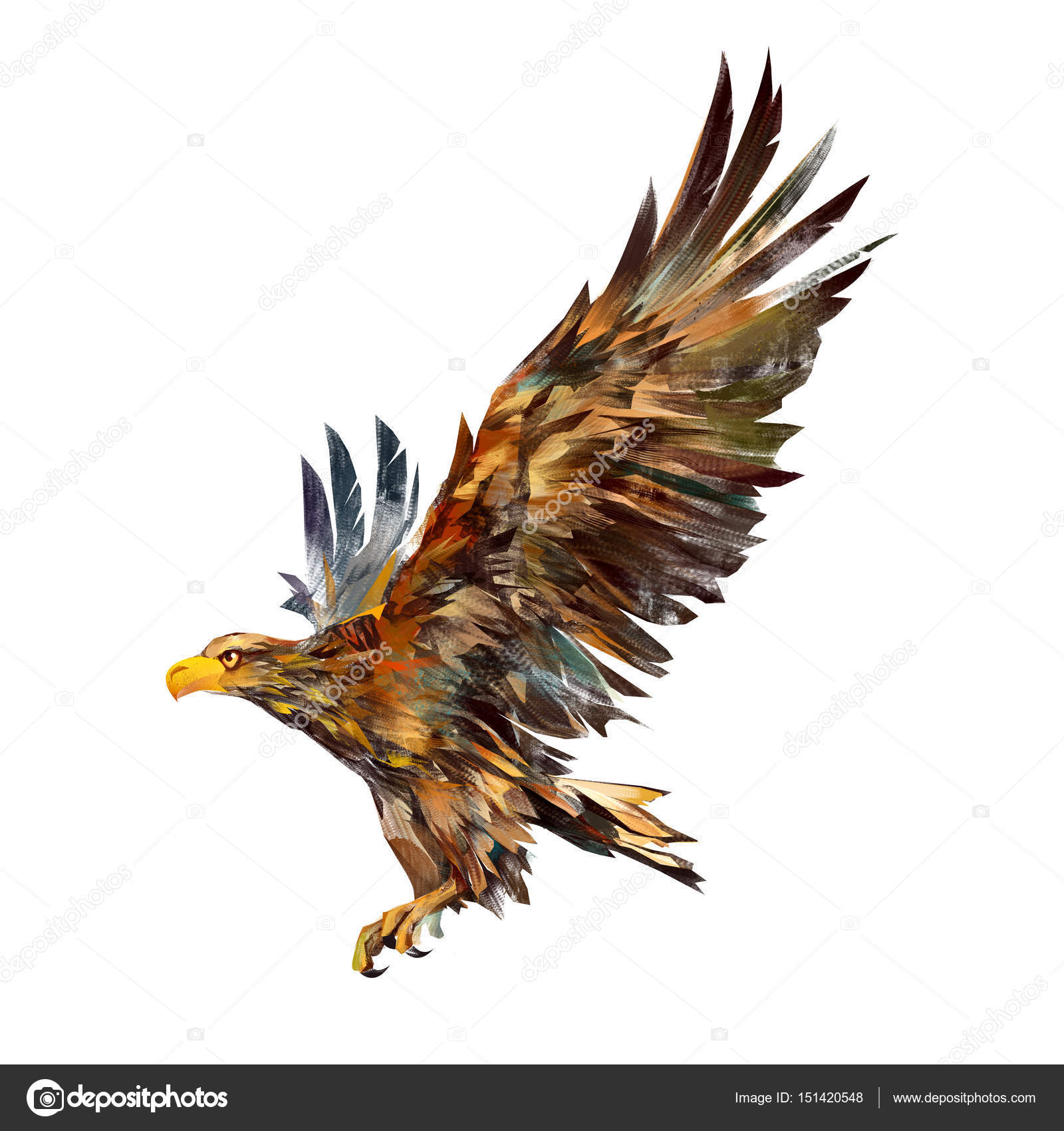 Isolated drawing of a flying eagle on the side stock photo khius isolated drawing of a flying eagle on the side stock photo altavistaventures Image collections