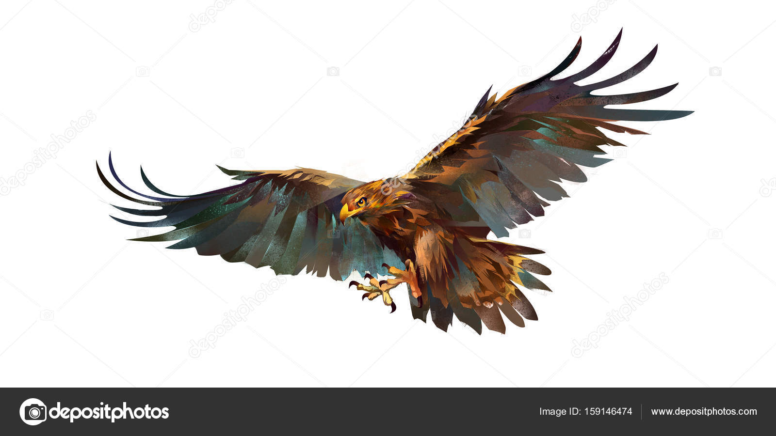 Drawing flying eagle on white background stock photo khius art flying eagle on white background photo by khius altavistaventures Image collections