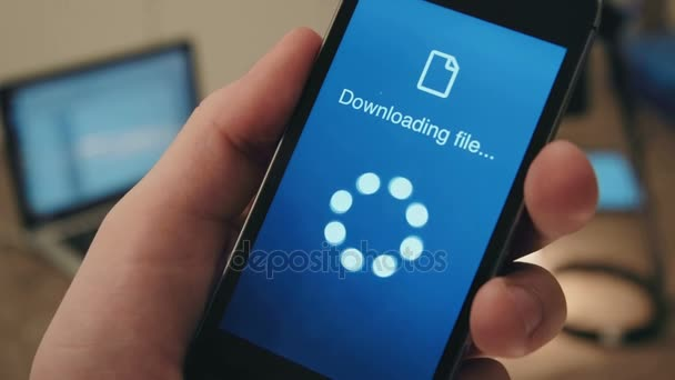 Successful downloading files on a smartphone
