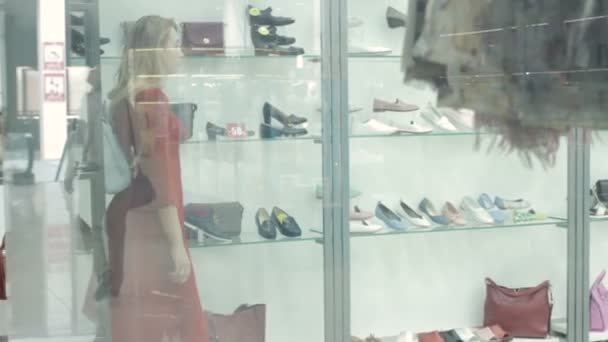 Young pretty girl, shopping, clothes, shoes