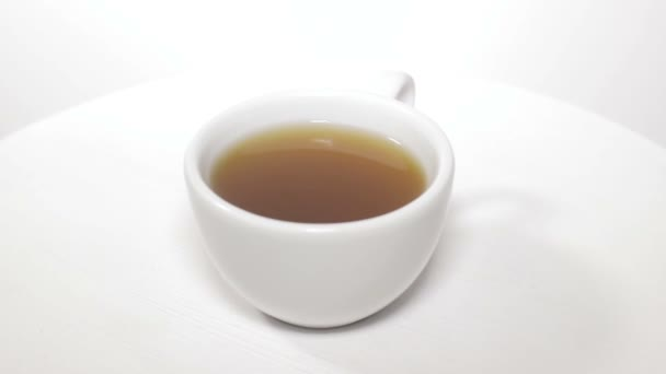 Cup of hot coffee or tea, isolated