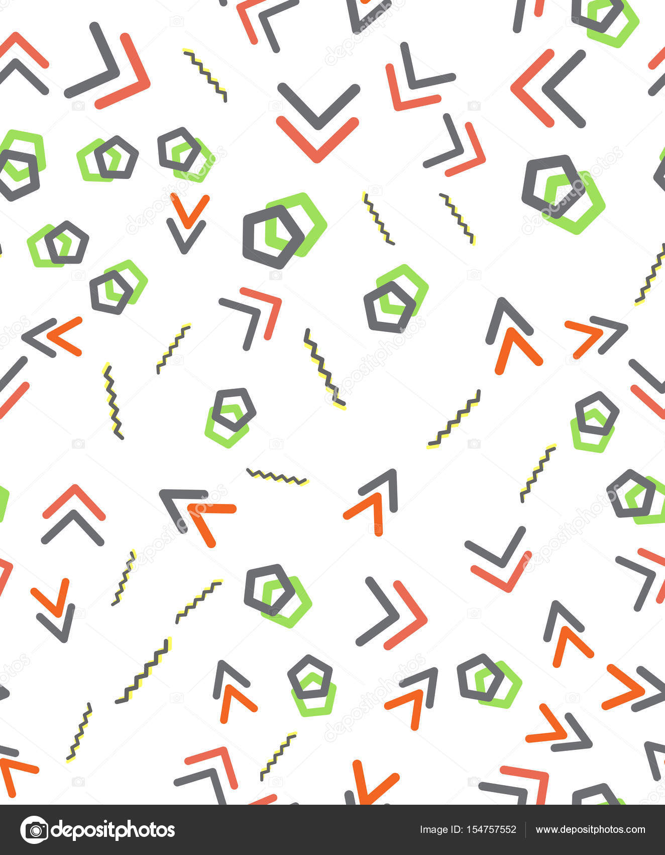 Sin costura patrones geométricos primitivos. Patrón moderno Trendy ...