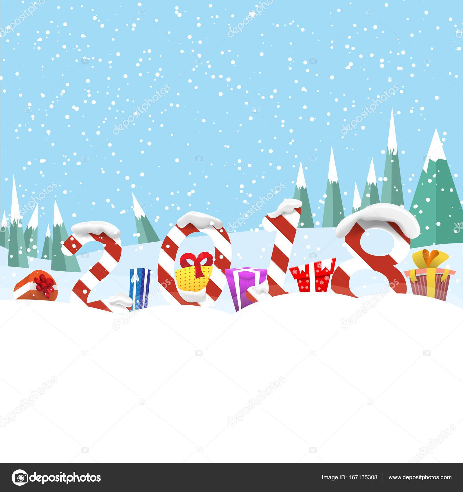 Weihnachten Grüße Bilder.Weihnachten Gruß Board Vektor Illustration Geschenke Und Ziffern