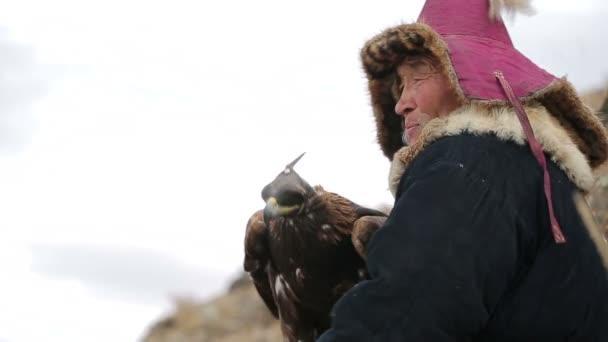Orel a nomad na lovu