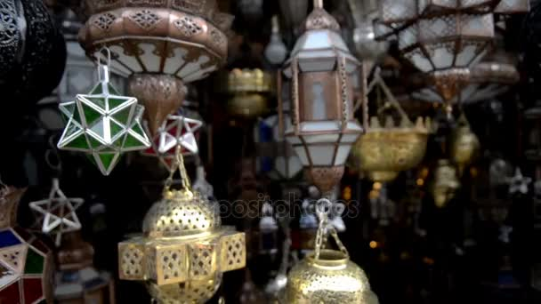 traditional lamps in the market to Morocco, graceful handiwork