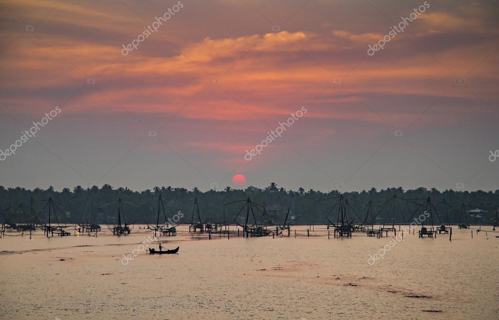 Traditional fishing in Kerala