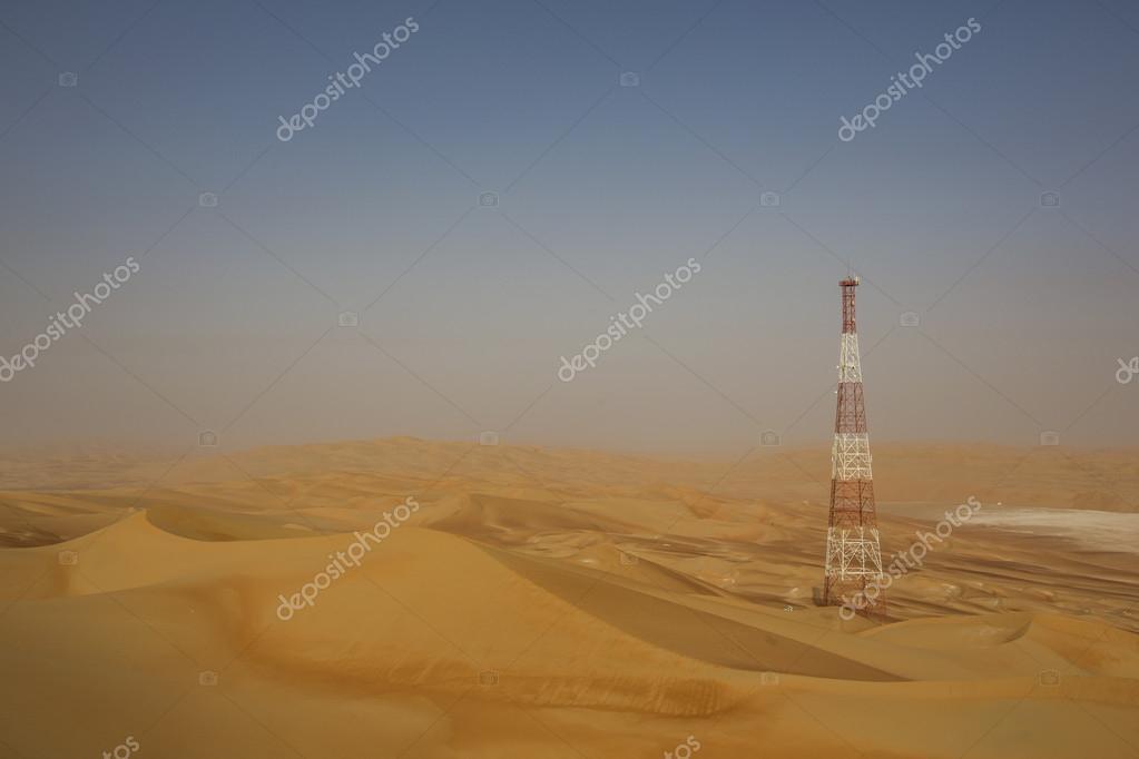 GPS base station in a desert