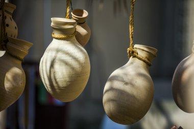 ceramic jars in Nizwa market