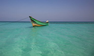 Boat on an island of Socotra