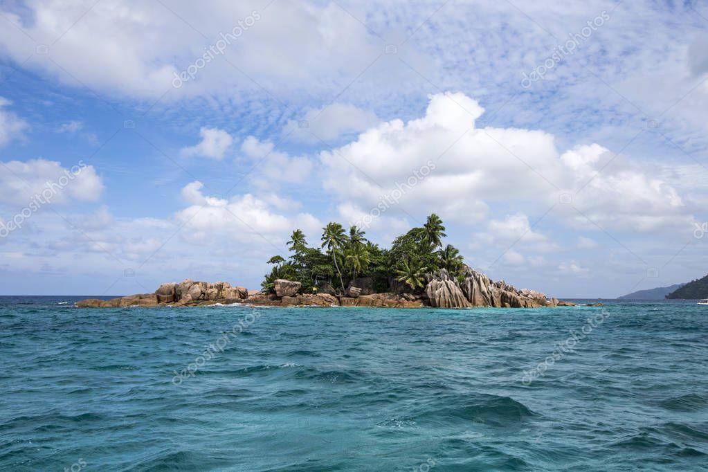 Paradise island of Praslin in Seychelles