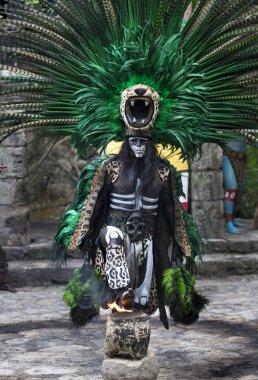 Man in Maya costume