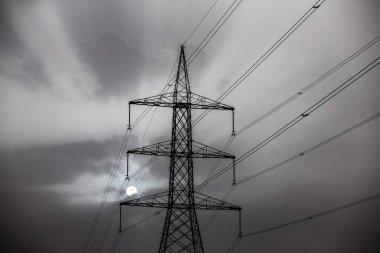power line in desert