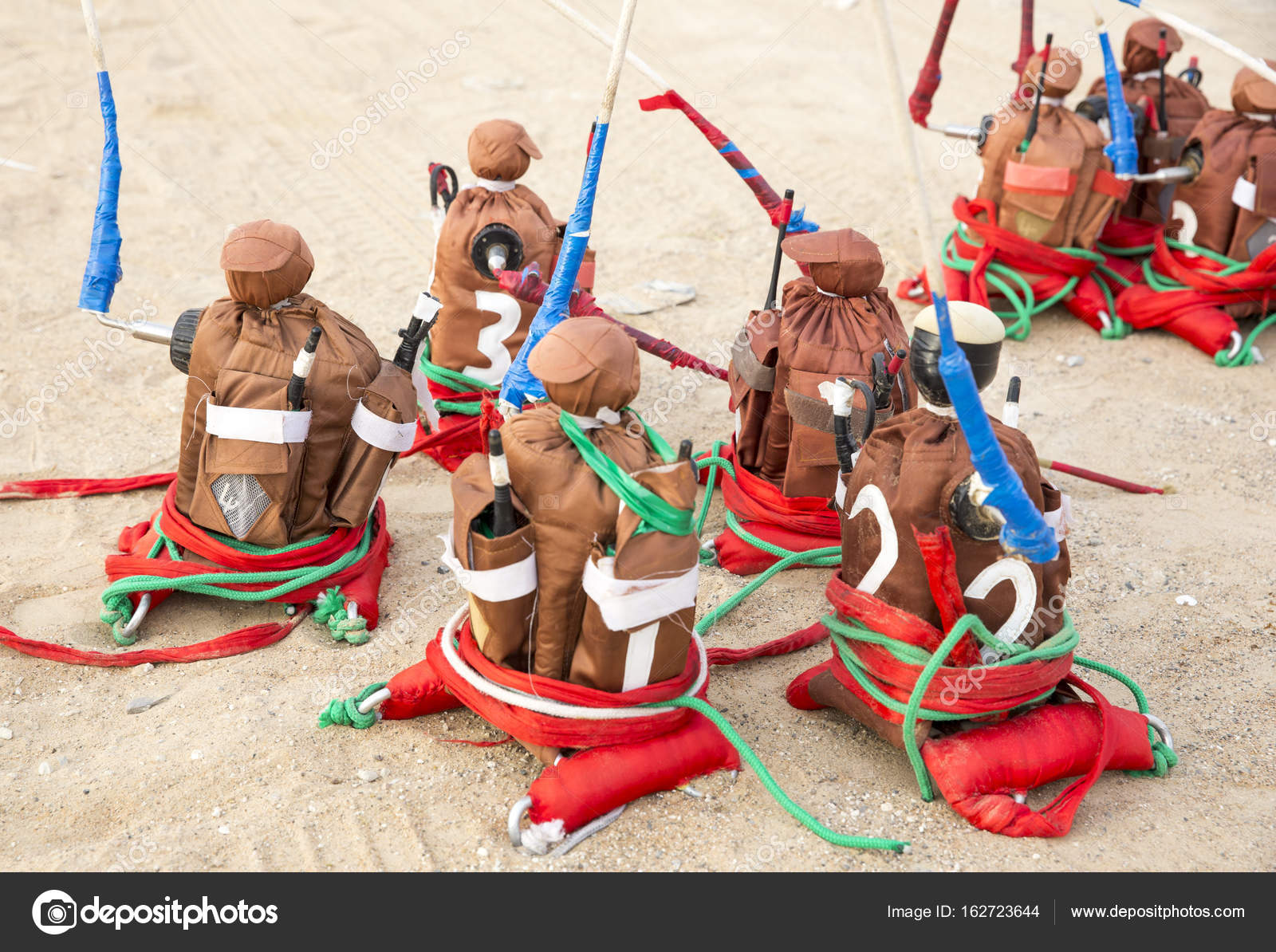 Used robots for camel races — Stock Photo © katiekk #162723644