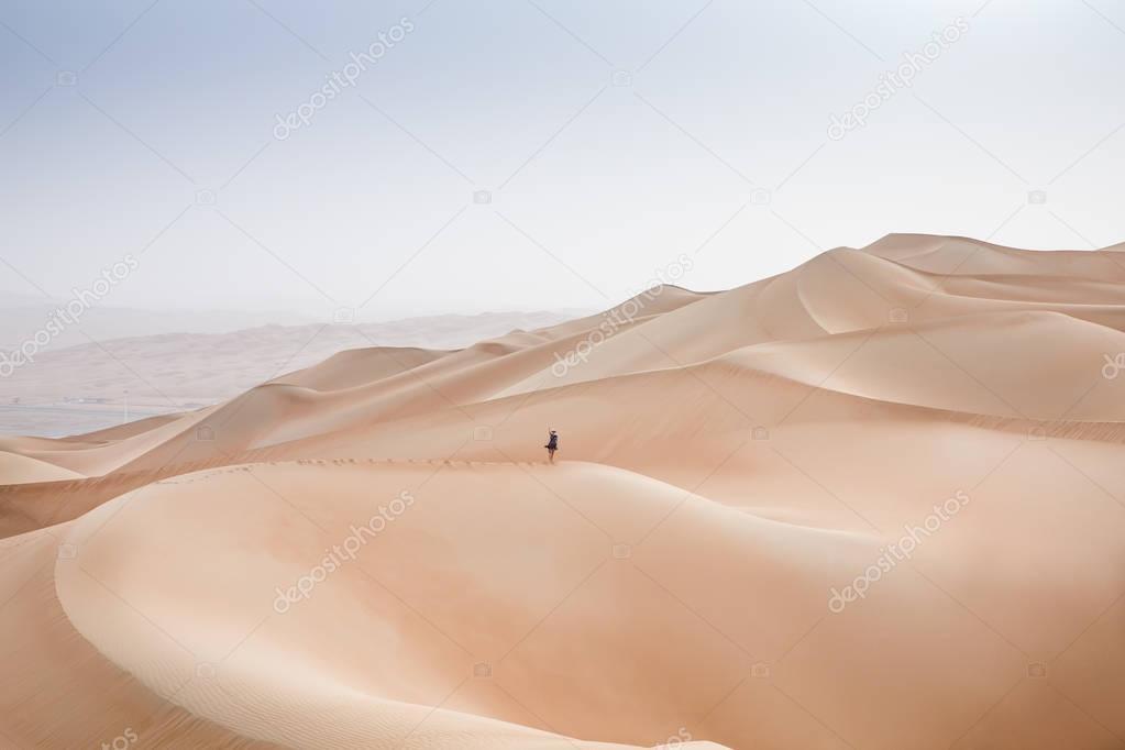 woman in Rub al Khali Desert