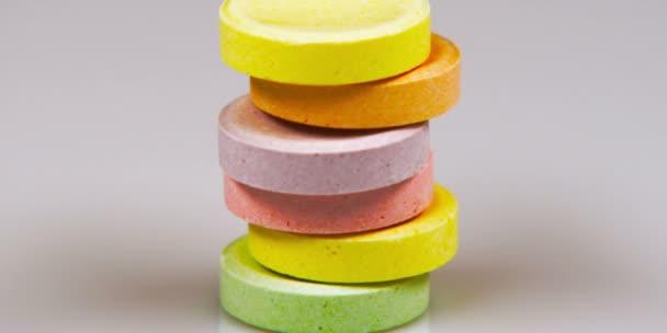 sweet tart candies stacked