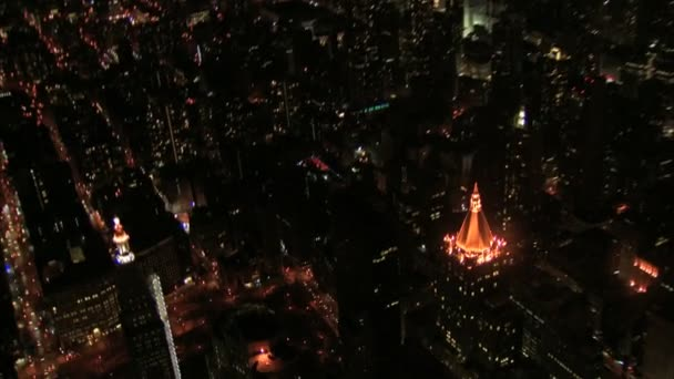birds eye view of new york city streets and buildings