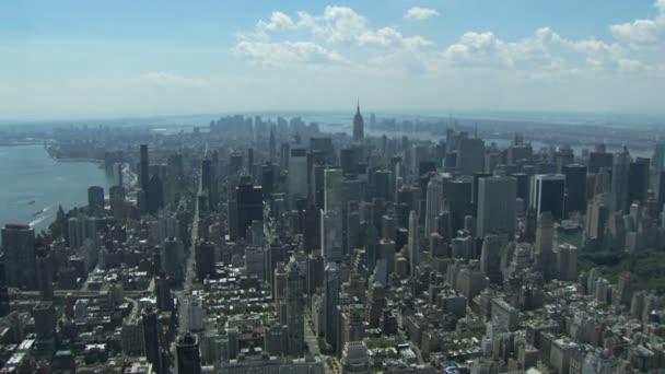 Letecký pohled na New york city