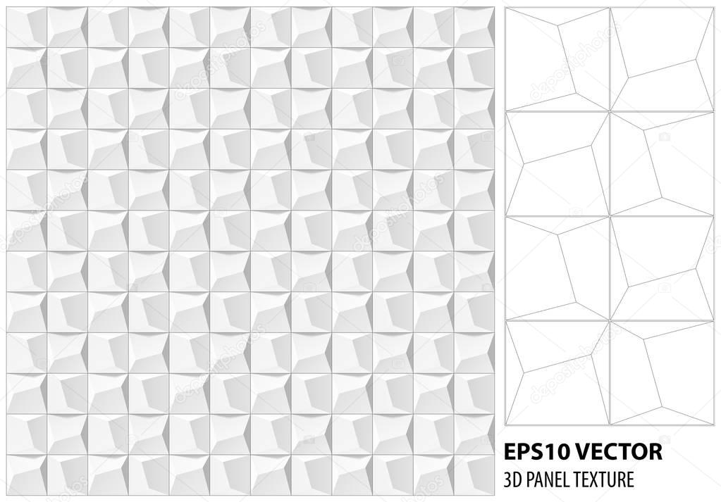 Abstract 3d white geometric background. White seamless texture with ...