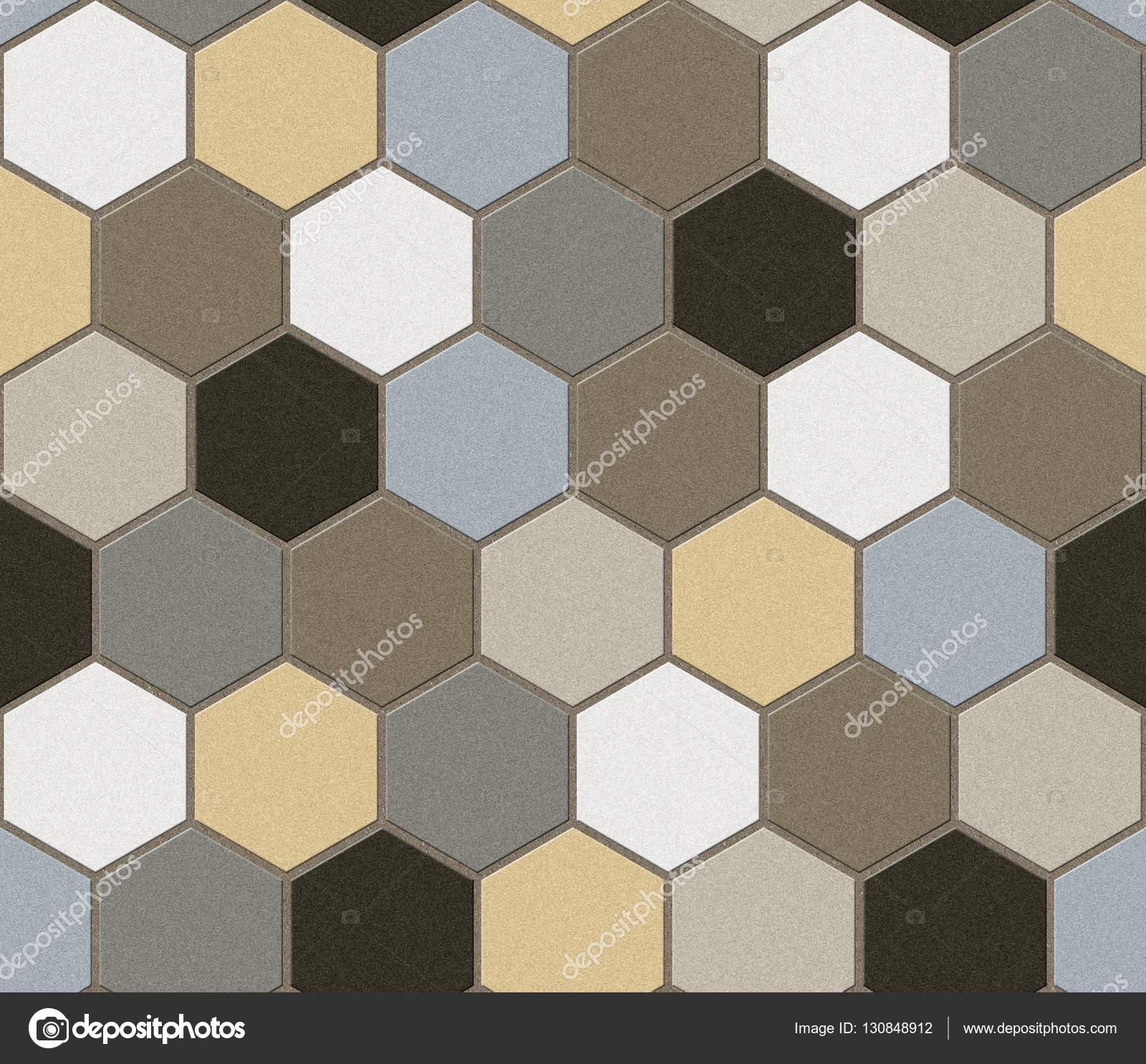 Hexagonal Tiles Patchwork Seamless Texture Stock