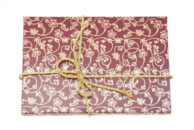 Gift box with golden rope