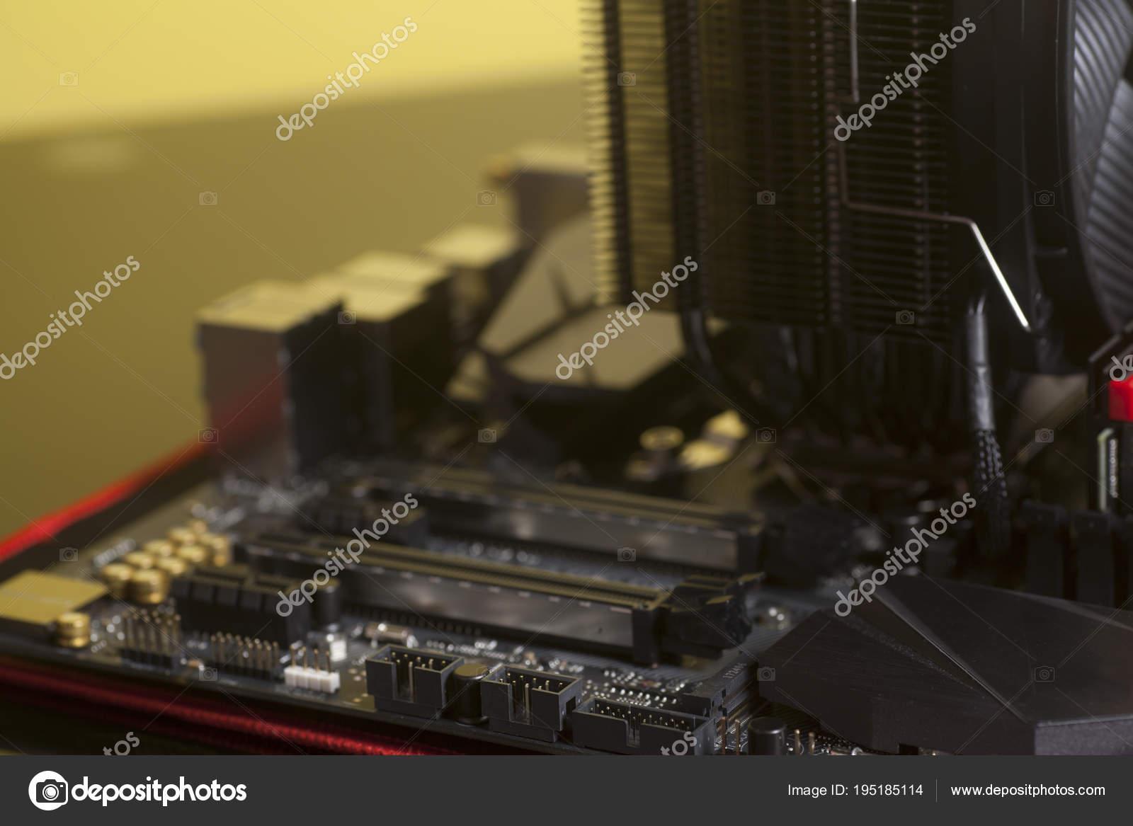 Circuito Ventilador : Circuito de computadora motherboard tarjeta madre con procesador