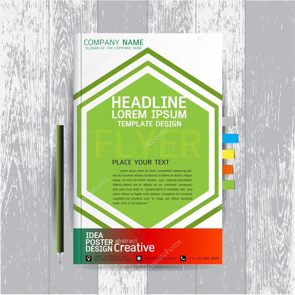 Poster design layout templates - Brochure Flyers Poster Design Layout Template In A4 Size With Business Abstract Background Wood Vector Text Leaflet Cover Presentation Annual Report