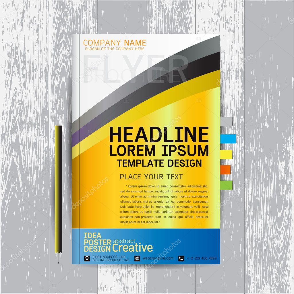Broschüre, Flyer, Plakat, Design-Layout-Vorlage im A4-Format mit ...