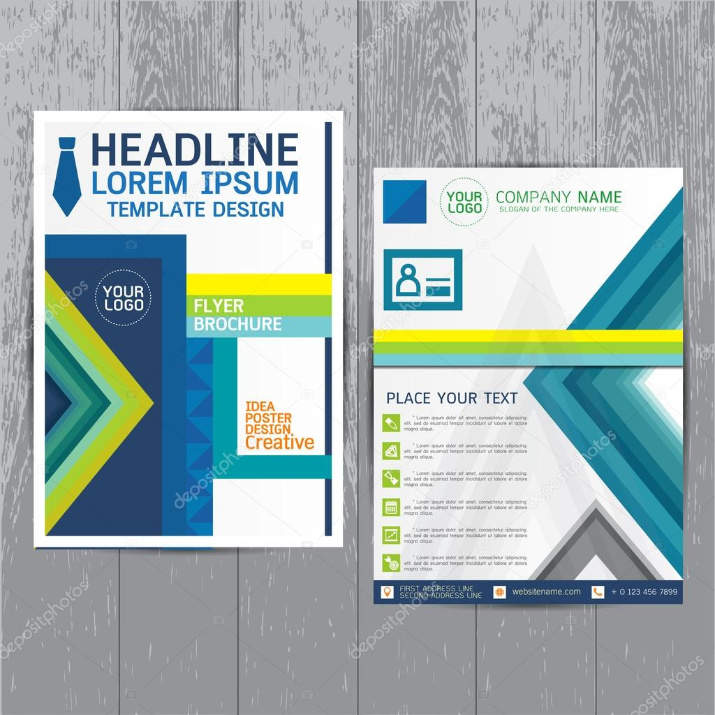 brochure flyers poster design layout template in a4 size with